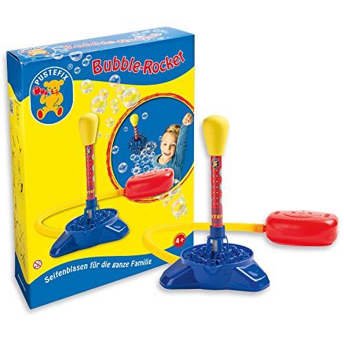 Pustefix Bubble-Rocket I 220 ml Seifenblasenwasser I Bunte Bubbles für Hochzeit, Kindergeburtstag, Polterabend, Standesamt, Sommerparty I Seifenblasen Spielzeug Rakete für Kinder & Erwachsene