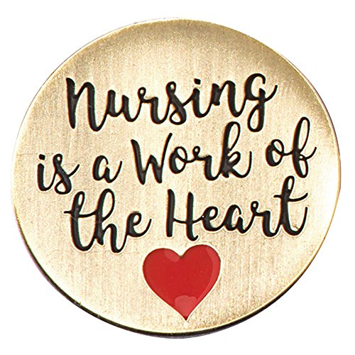 Nursing is a Work of The Heart Appreciation Lapel Pins, 12 Pins