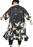 Kimono japonés para hombre, estilo vintage - negro - Large