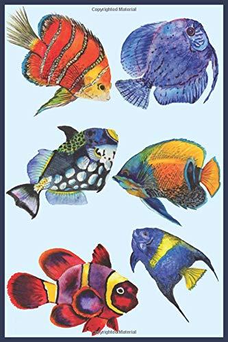 Tropische vissen: Notitieboek, gelinieerd, 120 pagina's, 15.24 x 22.86 cm (ongeveer A5), zachte kaft