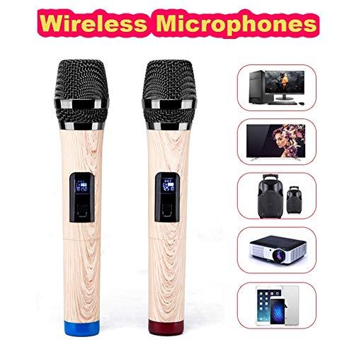 Universele bluetooth-microfoon, tweekanaals met UHF-vaste frequentie, draadloze microfoon voor de kerk/thuis/zingen/stem met ontvanger