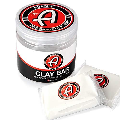 Adam's Clay Bar Jar 2 100g Detailing Bars - Super Soft, Ultra Fine Grade Material - Removes...