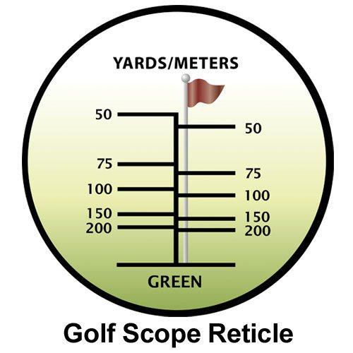 BARSKA Blueline 8x22 Waterproof Golf Scope (Yards)