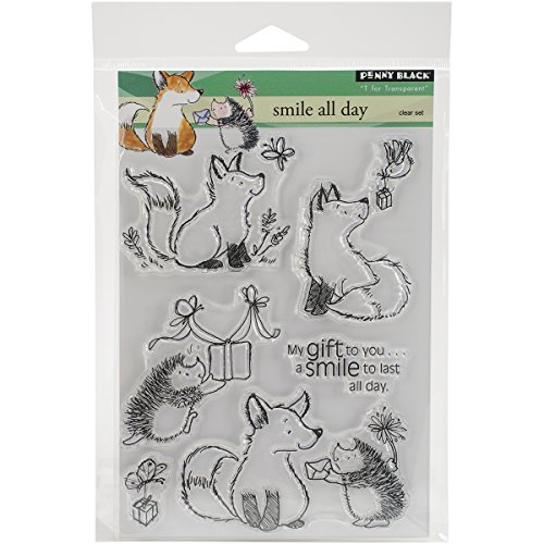 Penny Black PB30305 Smile All Day Clear Stamps Sheet, 5 x 6.5