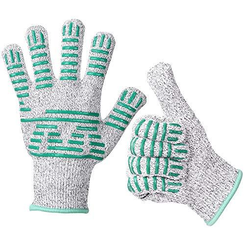 Cut-Proof Handschoenen - Veiligheid Werk Handschoenen Met Niet-lipSiliconen Blokken Voor Oester Shelling, Fillet Processing, Mandolin Plakjes, Tuin, Houtbewerking