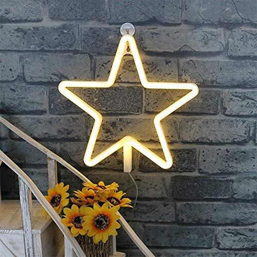 AOK DOOR Neon Lampe Neon Deco Accueil Décoration Lumières pour Mur Applique Murale au néon Accueil Lumières Décoratif pour Mur Star