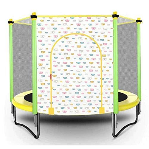 Lamyanran Trampolin Brincolin para Niños y Adultos Mini trampolín, Fitness T.rampoline, con la Red de Seguridad del recinto, Actividad Junior Trampolín Cubierta Exterior for niños Regalo