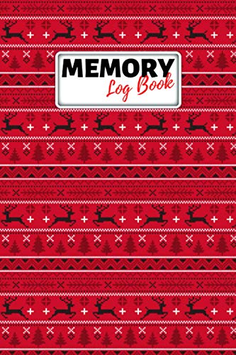 Memory Log Book Journal: Glamping Keepsake Memory Book with Prompts to Write in for Travel Adventure Notes, Record Memories Every Day of the Year! - Christmas Red Cover Diary