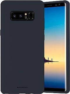 Goospery NT8-SLC-NVY - Funda de silicona líquida para Samsung Galaxy Note 8 (2017) con forro de microfibra suave (azul mar...