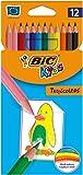 Lápices de colores intensos. Material: resina Fácil de sacar punta No se astilla y resiste mordeduras Cuerpo hexagonal Colores surtidos Descripción del producto: BIC 832566 Tipo de producto: Lápiz de color Cantidad: Caja de 12