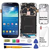 Display Touch Screen (AMOLED) Digitizer Assembly with Frame for Samsung Galaxy S4 (SIV) SGH- I337 (AT&T)/ SGH- M919 (T-Mobile) (for Mobile Phone Repair Part Replacement) (Black Mist)
