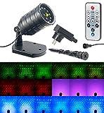 Lunartec Laser Sternenprojektor: Laser-Projektor mit 12 LEDs, 8 Licht-Effekte, Timer,...