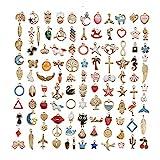 110 Piezas Colgantes del Encanto, Charm Colgante Esmalte Accesorios De Aleación, para de la Joyería de Bricolaje, Llaveros, Pulseras, Collares, Pendientes