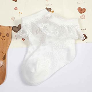 on brand, on brand DANDANdianzi Niño Lindo del calcetín del bebé Muchachas del cordón Tiny Mezcla de Encaje de algodón recién Nacido Española de Punto de algodón Calcetines