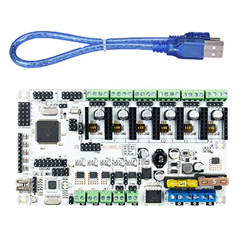 H HILABEE 3D Printer Main Control Board For Plus Plus 3Print Head LCD Expansion Interface