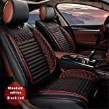 Vonzasi Car Seat Covers PU Leather for Front Seats Only Set of 2 Fit for Acura MDX RDX ZDX RL TL CDX ILX TLX TSX RSX RDS MDX RLX NSX with Airbag Compatible (Black)