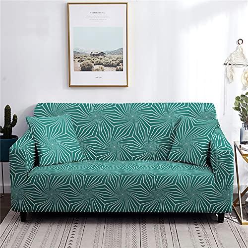 AMZAO Fundas de sofá de Alta Elasticidad 1 2 3 4 plazas Círculo Universal Poliéster Spandex Fundas para sofá Estampadas - Funda para Muebles / Protector para sillón Sofá Espuma Antideslizante
