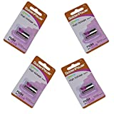 HQRP 4-Pack 6-Volt Battery Compatible with PetSafe RFA-18 RFA-18-11 fits PBC19-11043 PBC00-12724 PBC19-13095 Bark Control Receiver Dog Collar + Coaster