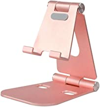 Foldable Tablet Holder Stand,Portable Multi-Angle Adjustable Dock Cradle Stable Non-Skid Tablets Stand Compatible with Phone