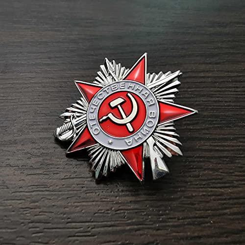 YUNjun MiniMedallaRusa, Insignia de la Medalla de la Guerra patriótica, Orden de Segunda Clase de la Gran Guerra patriótica, Insignia de Pin de Estrella roja de la Unión Soviética