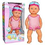 New Born Baby Badepuppe - Schwimmpuppe | My Firsts Swim Girl Aufziehpuppe | Ich Kann Schwimmen Puppe | Schwimmende Puppe Kinder Wasserspielzeug | Babypuppen Für Jungen Und Mädchen