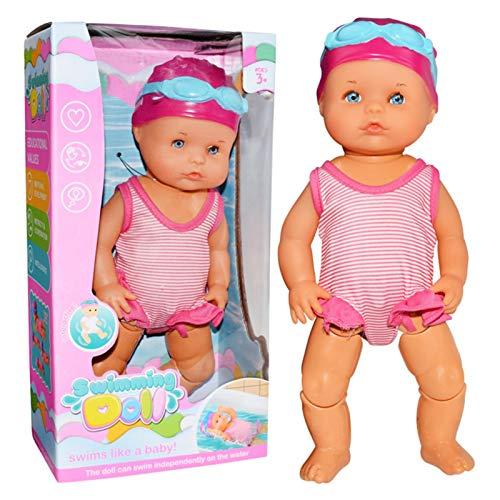 Eruditter Schwimmpuppe Elektrisch, Ich Kann Schwimmen Puppe, Schwimmende Puppe Kinder Wasserspielzeug, Babypuppen Für Jungen Und Mädchen Kid & Toddler