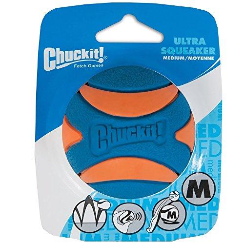 Chuckit 52069 Ultra Squeaker Ball L 1 Pelota para Perros Compatible con el Lanzador