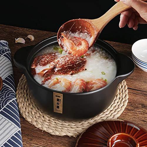 WFS Vaporera Olla Olla Olla Olla cerámica Cacerola Uso Multiusos para Cocina casera o Restaurante para Sopa, estofado, Salsa, Pasta Olla pequeña (Capacity : 3L, Color : Brown)