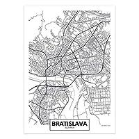 アートポスター 世界の市街地図キャンバスウォールアートオランダトルコアイスランドシティポスターとプリントリビングルームの家の装飾のための装飾的な写真 (Color : 04, Size : 30x40cm No Frame)