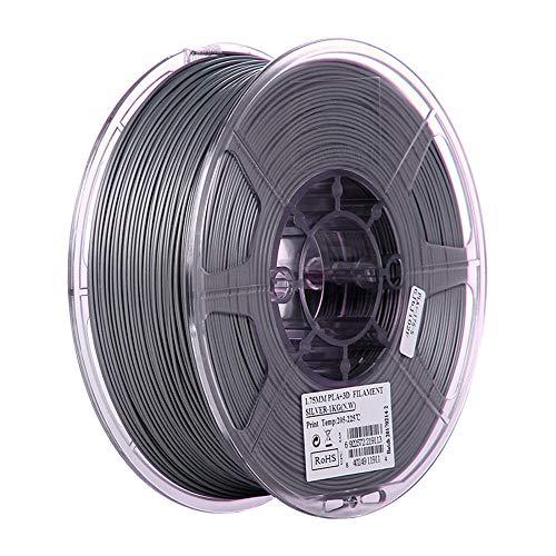 PLA+ Filament 1.75mm, 3D Printer Filament 1kg (2.2lb), Improved PLA Plus, High Toughness-Silver