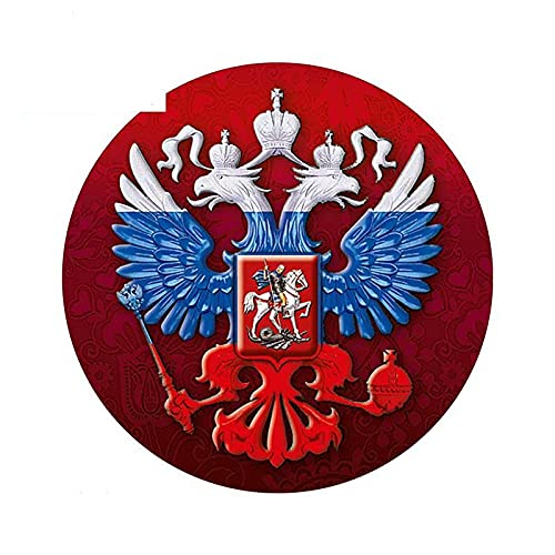 A/X 13cmx13cm Stemma della Russia Adesivi per Auto Decalcomanie Federazione Russa a Doppia Testa
