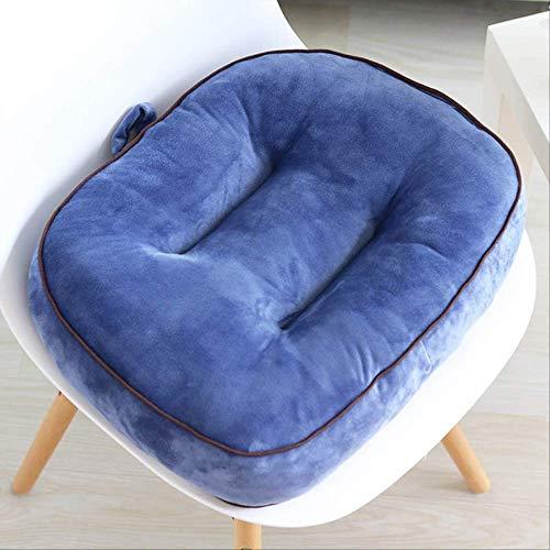 AINIYUE Sitzkissen für das Fahren, verdicken Auto erhöhte Sitzmatte, für Vier Jahreszeiten-Auto-rückseitiges Kissen-Stuhl-Auflage, für das Kinderheim 42X38cm Blau-J