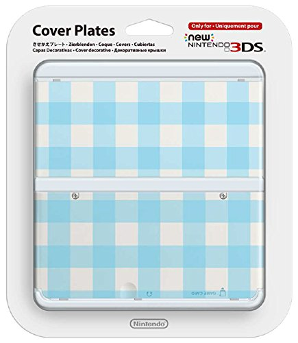 Nintendo New 3DS Cover Plate - Blue Check
