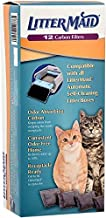 LitterMaid Odor Absorbing Litter Box Carbon Filters, 12 Pack, White (1-Pack)