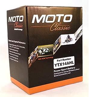Moto Classic YTX14AHL 12V 14Ah Sealed AGM 230CCA 30 Mo. Warranty Motorcycle ATV Battery