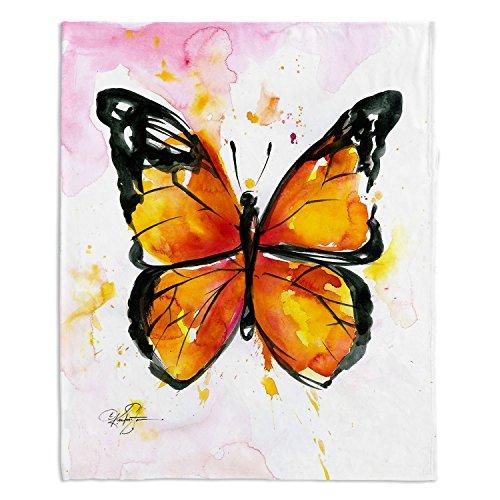 couvertures Ultra doux Fuzzy Polaire 4 tailles. Dianoche Designs – Kathy Stanion Monarch Butterfly Home Decor Unique Chambre à coucher idées Jeté de Canapé couvertures