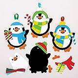 Baker Ross Kits Decoraciones combinables Pingüino (Pack de 6) para manualidades infantile...