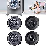4PCS Shock and Noise Cancelling Washing Machine Support,Anti Slip Anti Vibration and Noise reducing Rubber Washing...