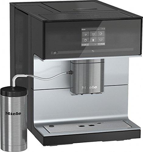 Miele CM 7300 Kaffeevollautomat (Kaffee- und Tee-Zubereitung, Tassenwärmer, 10 Genießerprofile, Tassenbeleuchtung, OneTouch- und OneTouch for Two-Zubereitung, entnehmbare Brüheinheit) schwarz