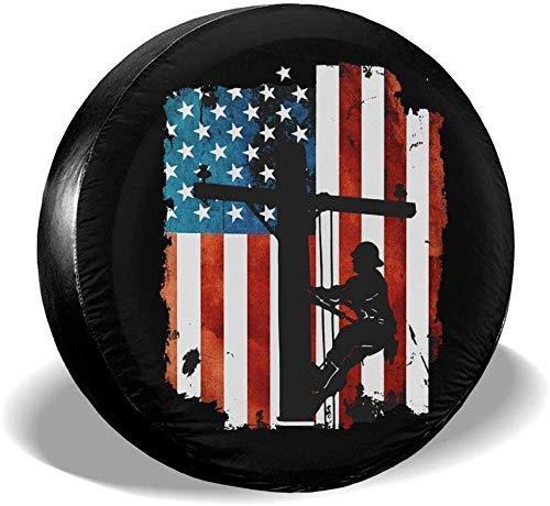 Enoqunt Lineman Bandera Americana Cable eléctrico Impermeable Cubierta de neumático de Repuesto...