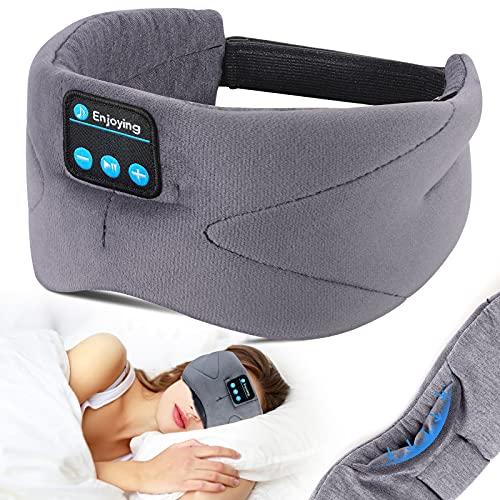 Maschera per dormire con Bluetooth, LC-dolida maschera per occhi con cuffie...