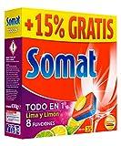 Somat Todo en 1 Lima y Limón Pastillas Lavavajillas 30+5 Dosis