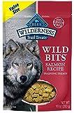 Blue Buffalo Wilderness Trail Treats Wild Bits High Protein Grain Free Soft-Moist Training Dog Treats, Salmon Recipe 10-oz Bag