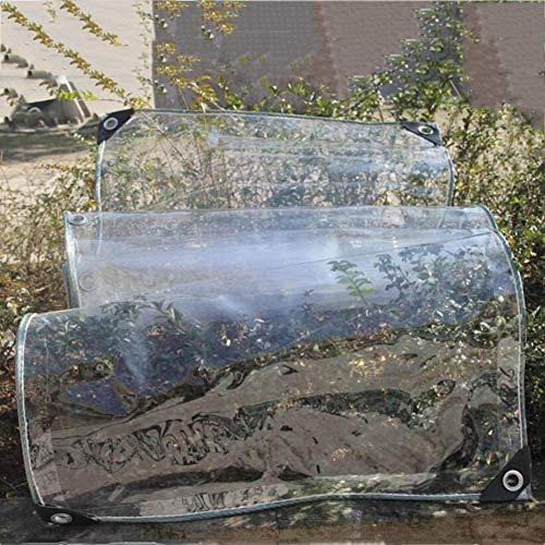 YiNuo Persenning transparente Glasregendicht Tuch Thick Anti-Aging Sonnenraum Pflanze Schuppen Bildschirm Vorhang Schutz Winkel PVC, 20 Größen Plane (Color : Transparent,...