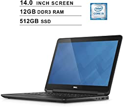 2019 Premium Dell Latitude E7440 Ultrabook 14 Inch Business Laptop (Intel Dual Core i5-4300U up to 2.9GHz, 12GB DDR3 RAM, 512GB SSD, Intel HD 4400, WiFi, HDMI, Windows 10 Pro) (Renewed)