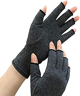 Arthritis Compression Gloves, One Fingerless Pair Relieve Pain of Rheumatoid and Osteoarthritis. Alleviate Symptoms of Carpal Tunnel Tendinitis and RSI for Everyday Use for Men & Women (Medium)