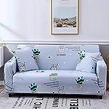 ARTEZXX Funda sofá Todo Incluido Universal All Season Funda de sofá Tejido poliéster y Elastano elástica Cubiertas de sofá 1/2/3/4 plazas Azul 2 plazas: 145-185 cm