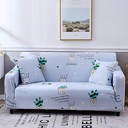 WPHRL 2 plazas Funda elástica para sofá Estampado Lila Tejido Jacquard de poliéster y Elastano Fundas de sofá Suaves duraderas 145-185cm