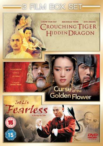 Curse of The Golden Flower / Fearless / Crouching Tiger, Hidden Dragon [3 DVDs] [UK Import]