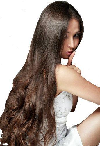 55,9 cm Remy de cheveux humains clip en extensions d'épaisseur à extrémités Marron foncé (# 2) 9 pièces [Set Poids : drinkstuff/125grams]